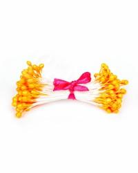 Жемчужные тычинки для цветов из мастики «Темно-Оранжевые», Китай