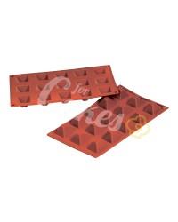 Силиконовая форма для муссовых изделий и выпечки «Пирамида маленькая, MINI PYRAMIDS», Италия