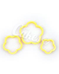 """Вырубки, катары для мастики и теста пластиковые """"Цветок"""", Китай"""