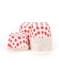 Капсулы для выпечки с рисунком Красный Горошек, 60x40 мм