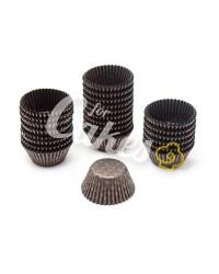 Капсулы бумажные для оформления и выпечки (тарталетки) коричневые с золотым рисунком, 1000 шт