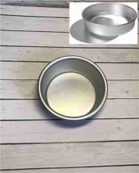 Алюминиевая форма для выпечки со съемным дном, 125х115х60 мм, 5inch
