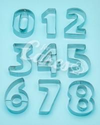 Формы для мастики и теста Цифры от 0 до 9 металлические, Китай