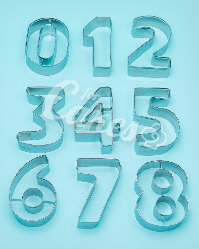 58a6a35f5 Формы для мастики и теста Цифры от 0 до 9 металлические, Китай ...