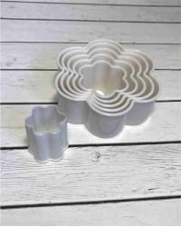 Вырубки для мастики и теста «Цветок», набор 6 штук, пластик