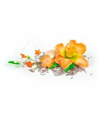 Сахарные цветы из мастики «Букет на проволоке - Орхидеи с Оранжевым напылением», Казахстан