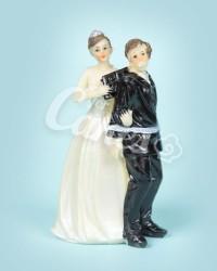 Керамические статуэтки Жениха и Невесты с юмором, 15414A