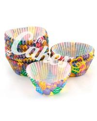 Капсулы бумажные для оформления и выпечки (тарталетки) с ярким  рисунком, 50 шт