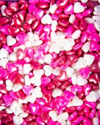 Посыпка кондитерская «Сердечки средние Красно-Бело-Розовые»