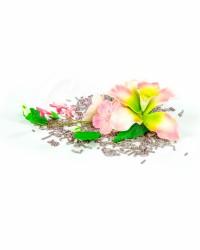 Сахарные цветы из мастики «Букет на проволоке - Орхидеи с Лиловым напылением», Казахстан