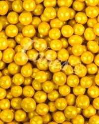 Посыпка кондитерская «Жемчуг Темно-Желтый 4 мм»