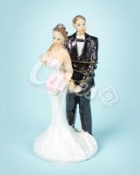 Керамические статуэтки Жениха и Невесты с юмором, 15416A