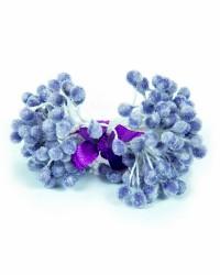 Хрустальные тычинки для цветов из мастики «Светло-Синие», Китай