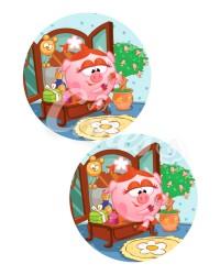 Вафельные картинки «Смешарики»