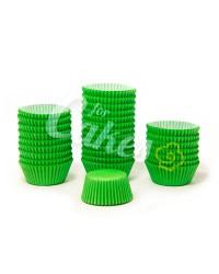 Капсулы бумажные для оформления и выпечки (тарталетки) однотонные Зеленые, 1000 шт