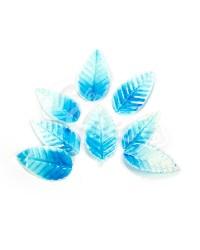 Вафельные листики «Лист Ясеня», крупный, цвет бело-голубые