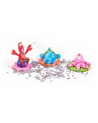 Сахарные фигурки из мастики «Морские Обитатели – Краб, Рыбка, Осьминожка», Казахстан