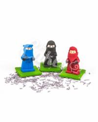 Сахарные фигурки из мастики «Лего Ниндзяго - Красный, Черный, Синий», Казахстан