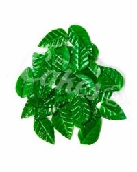 Вафельные листики «Лист Ясеня», мелкий, цвет зеленый