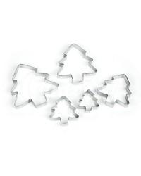 Вырубки для пряников, печенья «Елочка», набор из 5 шт
