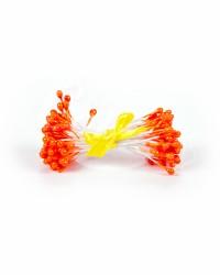 Жемчужные тычинки для цветов из мастики «Оранжевые», Китай
