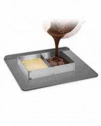 Раздвижная форма для выпечки квадрат-трансформер