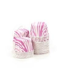 Капсулы для выпечки с рисунком фиолетовые полоски, 50x39 мм