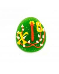 Мармеладный декор для кулича «Пасхальное яичко», цвет зеленый