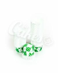Капсулы для выпечки с зеленым рисунком, 44х35 мм