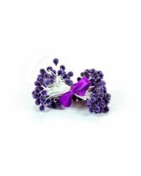 Хрустальные тычинки для цветов из мастики цвет «Сливовый», Китай