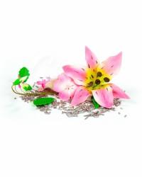 Сахарные цветы из мастики «Букет на проволоке - Лилии с Розовым напылением», Казахстан