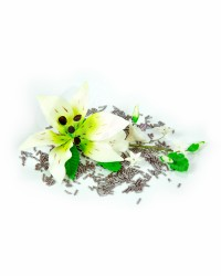 Сахарные цветы из мастики «Букет на проволоке - Лилия Белая», Казахстан