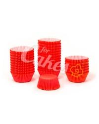 Капсулы бумажные для оформления и выпечки (тарталетки) однотонные Красные, 1000 шт