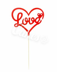 """Топпер """"Love"""" в сердце"""