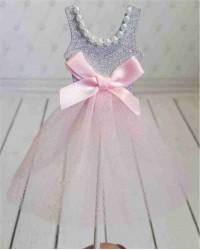 Топпер «Платье Розовое», с серебряным верхом