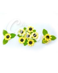 Сахарные цветы из мастики «Подсолнухи маленькие», Казахстан