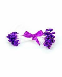 Жемчужные тычинки для цветов из мастики «Фиолетовые», Китай