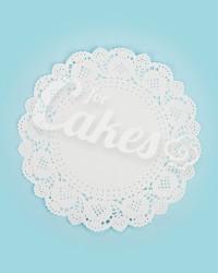 Салфетка под торт ажурная, диаметр 26,7 см