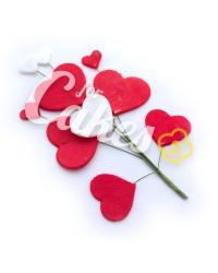Сахарные фонтаны из мастики на проволоке «Сердечки красно-белые», Казахстан