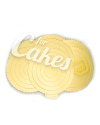 Золотые картонные подложки для торта