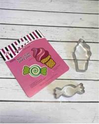 Вырубки для пряников, печенья набор «Мороженое и Карамелька»