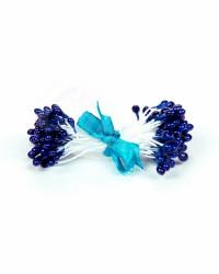 Жемчужные тычинки для цветов из мастики «Синие», Китай