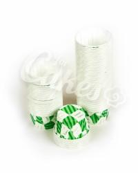 Капсулы для выпечки с зеленым рисунком, 50x39 мм