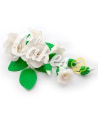 Сахарные цветы из мастики «Букет на проволоке - Розы Белые», Казахстан