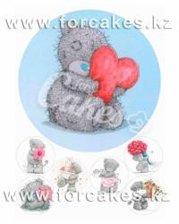 Вафельные картинки «Мишки Тедди»