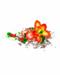 Сахарные цветы из мастики «Букет на проволоке - Орхидеи с Красным напылением», Казахстан