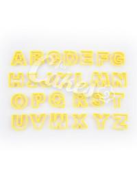 Вырубки Буквы-Алфавит для мастики, латинский алфавит, Италия
