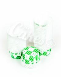 Капсулы для выпечки с зеленым рисунком, 60x40 мм