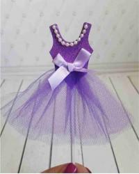 Топпер «Платье Фиолетовое»