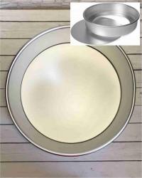 Алюминиевая форма для выпечки со съемным дном, 275х265х80 мм, 11inch